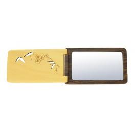 """Kunstvoller Taschenspiegel """"Bambus / Pflaume"""""""