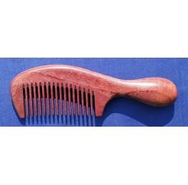 Small purple heart handle comb