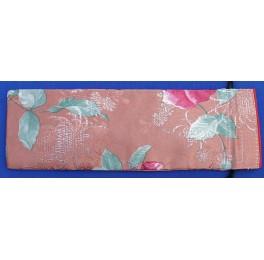 Seidenbeutel mit Blumenmotiv, altrosa, lang